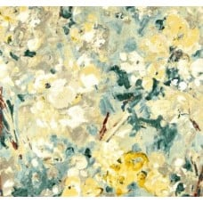 Floral Paint Luxe Home Decor Cotton Fabric in Lemon Fabric Traders
