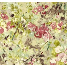 Floral Paint Luxe Home Decor Cotton Fabric in Pink