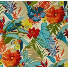 Tropical Garden Flowers Outdoor Fabric
