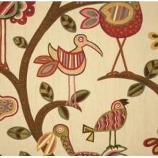 Jacquard Birds Natural Home Decor Luxe Fabric