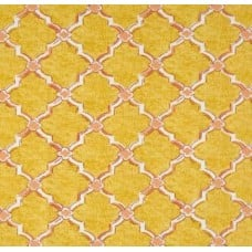 Classic Drawn Wrought Iron Indoor Outdoor Fabric in Yellow