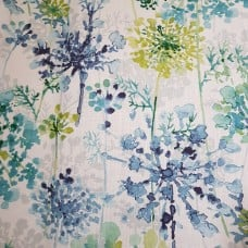 Modern Floral in Sea Green Luxe Cotton Home Decor Fabric