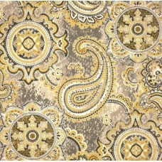 Paisley Delights Indoor Outdoor Fabric in Yellow