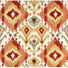 Ikat Screen Indoor Outdoor Fabric in Paprika