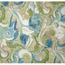 Painterly Foliage Outdoor Fabric in Green Fabric Traders