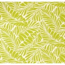 Tropical Leaf Silhouette Indoor Outdoor Fabric in Lime