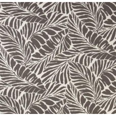 Tropical Leaf Silhouette Indoor Outdoor Fabric in Taupe