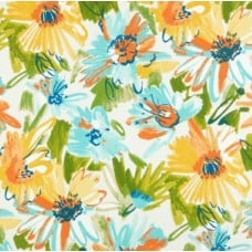 A Floral Splash Mabula Indoor Outdoor Fabric in Pacific