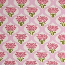 Chloe Rose Cotton fabric in Pink by Tanya Whelan Fabric Traders