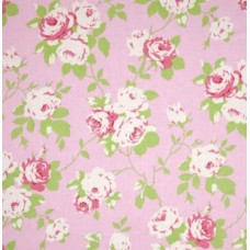 Chloe Rose Vine Cotton Fabric by Tanya Whelan in Pink