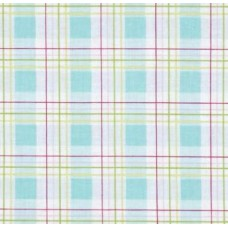 Zoey's Garden Faux Plaid Blue By Tanya Whelan