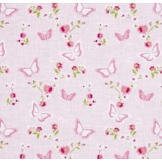 Zoey's Garden Butterfly Floral by Tanya Whelan in Pink