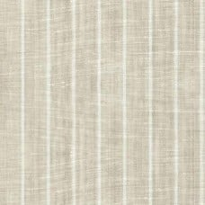 Pinstripe Chambray Linen Fabric in Cream and Tan