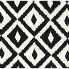 Aztec Design Outdoor Fabric in Black