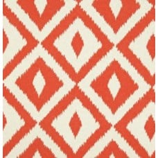 Aztec Design Outdoor Fabric in Orange