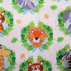 Jungle Animal Heads Cotton Fabric from Timeless Treasures Fabric Traders