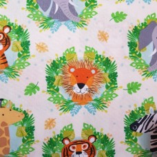 Jungle Animal Heads Cotton Fabric from Timeless Treasures