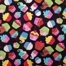 Cupcake Miniature Delights Cotton Fabric by Timeless Treasures Fabric Traders