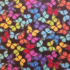 Butterflies Allover Cotton Fabric by Timeless Treasures