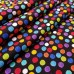 Crayon Dots Cotton Fabric in Black by Timeless Treasures Fabric Traders