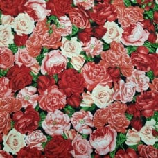 Rose Garden Roses Cotton Fabric by Timeless Treasures