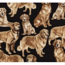 Dogs Golden Retrievers Cotton Fabric from Timeless Treasures