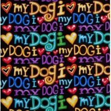 Dogs I Love My Dogs Cotton Fabric from Timeless Treasures Fabric Traders