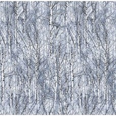 A Winter of Icy Trees Frost Cotton Fabric by Timeless Treasures