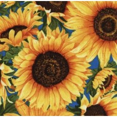 Sunflowers Big and Bold in Gold Cotton Fabric by Timeless Treasures Fabric Traders