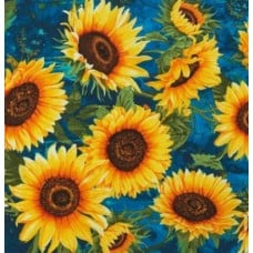 Sunflowers in Gold Cotton Fabric by Timeless Tresaures Fabric Traders