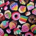 Baked Goods Cotton Fabric in Black Fabric Traders