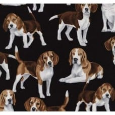 Dogs Beagles Cotton Fabric from Timeless Treasures