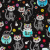 Flannel Kitty Black Cotton Fabric by Timeless Treasures