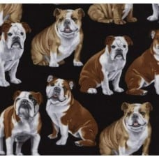 Dogs Bulldogs Cotton Fabric from Timeless Treasures