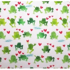 Hopping Frogs Cotton Fabric by Timeless Treasures