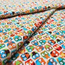 Tossed Owls Cotton Fabric by Timeless Treasures