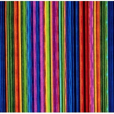 Striped for Flowers in Full Bloom Narrow Cotton Fabric
