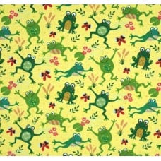 Playful Frogs Cotton Fabric by Timeless Treasures