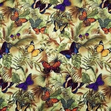 Tropical Butterflies Cotton Fabric Fabric Traders