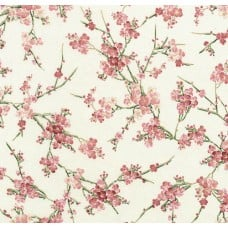 Blossom Metallic Sakura Cream Cotton Fabric by Timeless Treasures
