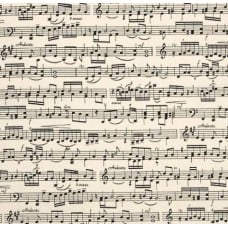 Sheet Music Cotton Fabric in Cream