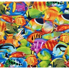 Tropical Fish Cotton Fabric by Timeless Treasures