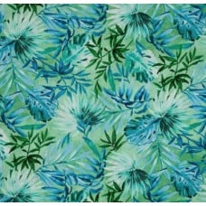 Tropical Palms and Foliage in Green Cotton Fabric by Timeless Treasures