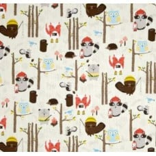 Woodland Animals Cotton Fabric by Timeless Treasures