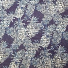 Pineapple Carate Batik Outdoor Fabric by Tommy Bahama in Blue