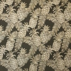 Pineapple Carate Batik Outdoor Fabric by Tommy Bahama in Black and Taupe