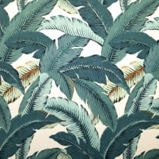 Swaying Palms Outdoor Fabric in Aqua by Tommy Bahama Fabric Traders