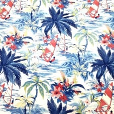 Wind Surfers Indoor Outdoor Fabric in Blue by Tommy Bahama