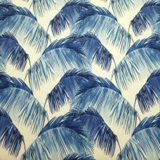 Palms in Blue Indoor Outdoor Fabric by Tommy Bahama Fabric Traders
