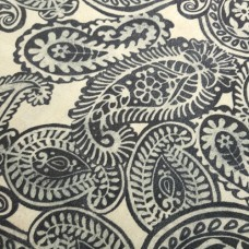 Decorative Paisley Summery Spin Fabric by Tommy Bahama in Grey